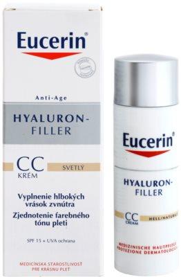 Eucerin Hyaluron-Filler Crema CC impotriva ridurilor adanci SPF 15 1