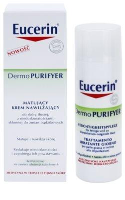 Eucerin Dermo Purifyer crema matificante para pieles problemáticas y con acné 2