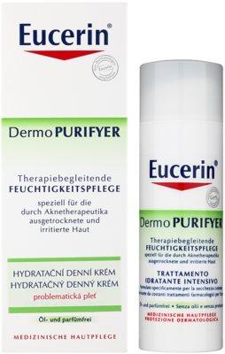 Eucerin Dermo Purifyer crema de día hidratante  para pieles problemáticas y con acné 2