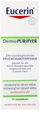 Eucerin Dermo Purifyer crema de día hidratante  para pieles problemáticas y con acné 3