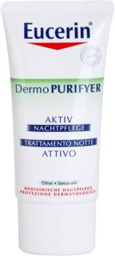 Eucerin Dermo Purifyer creme hidratante de noite para pele oleosa e problemática