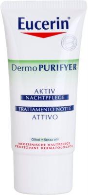 Eucerin Dermo Purifyer Feuchtigkeitsspendende Nachtcreme für fettige und problematische Haut