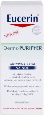 Eucerin Dermo Purifyer Feuchtigkeitsspendende Nachtcreme für fettige und problematische Haut 2