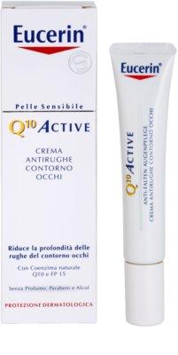 Eucerin Q10 Active creme de olhos antirrugas SPF 15 1