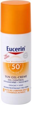 Eucerin Sun védő géles krém az arcra SPF 50+