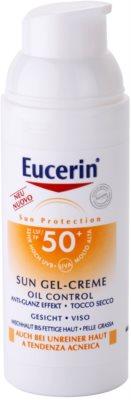 Eucerin Sun zaščitni kremasti gel za obraz SPF 50+ 1