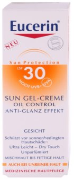 Eucerin Sun crema-gel cu efect de protectie a fetei SPF 30 4