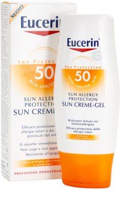 Eucerin Sun gel-crema protector para la alergía al sol SPF 50 1