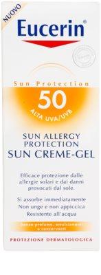 Eucerin Sun gel-crema protector para la alergía al sol SPF 50 3