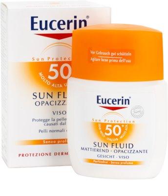 Eucerin Sun fluido protector matificante para rostro SPF 50+ 1