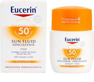 Eucerin Sun fluido protector matificante para rostro SPF 50+ 2