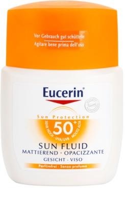 Eucerin Sun fluido protector matificante para rostro SPF 50+
