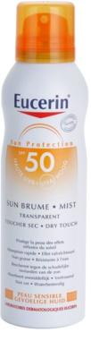 Eucerin Sun napozó átlátszó permet SPF 50