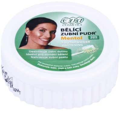 Eva Menthol polvo blanqueador para dientes  3 en 1