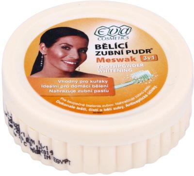 Eva Meswak polvo blanqueador para dientes  3 en 1