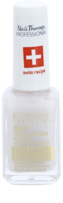 Eveline Cosmetics Nail Therapy Professional balzam za nohte z zlatimi bleščicami 8 v 1