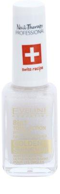 Eveline Cosmetics Nail Therapy Professional nehtový kondicionér se zlatými třpytkami 8 v 1