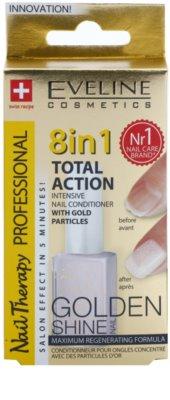 Eveline Cosmetics Nail Therapy Professional balzam za nohte z zlatimi bleščicami 8 v 1 1
