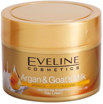 Eveline Cosmetics Argan & Goat´s Milk crema de día alisadora antiarrugas