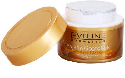 Eveline Cosmetics Argan & Goat´s Milk crema de día alisadora antiarrugas 1