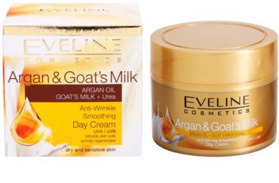 Eveline Cosmetics Argan & Goat´s Milk kisimító nappali krém a ráncok ellen 3