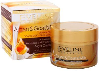 Eveline Cosmetics Argan & Goat´s Milk crema de noche nutritiva y calmante  antiarrugas 2