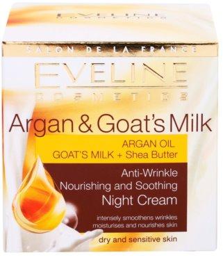 Eveline Cosmetics Argan & Goat´s Milk crema de noche nutritiva y calmante  antiarrugas 4