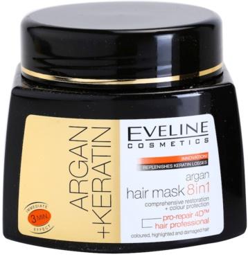 Eveline Cosmetics Argan + Keratin hajmaszk 8 in 1