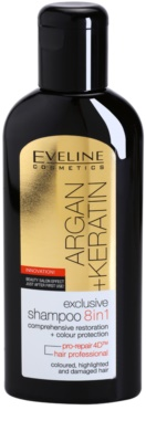 Eveline Cosmetics Argan + Keratin champô 8 em 1