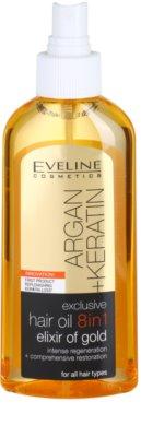 Eveline Cosmetics Argan + Keratin Haaröl 8 in 1 1