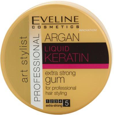 Eveline Cosmetics Argan + Keratin gomina para el cabello de fijación extra fuerte para cabello