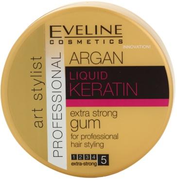 Eveline Cosmetics Argan + Keratin екстра силна гума За коса