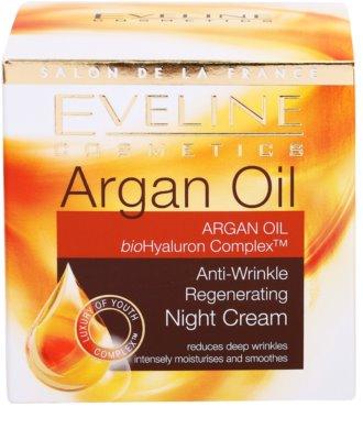 Eveline Cosmetics Argan Oil regeneráló éjszakai krém a ráncok ellen 4