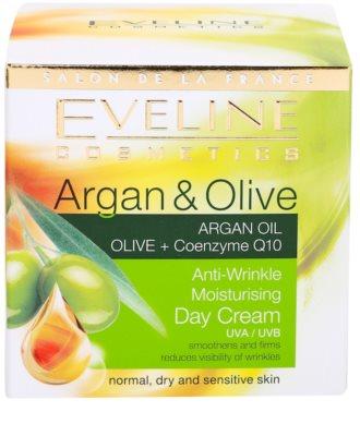 Eveline Cosmetics Argan & Olive hidratáló nappali krém a ráncok ellen 4