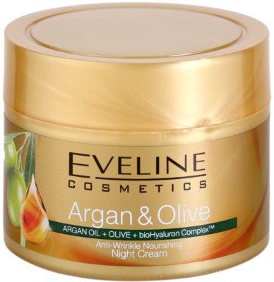 Eveline Cosmetics Argan & Olive hranilna nočna krema proti gubam