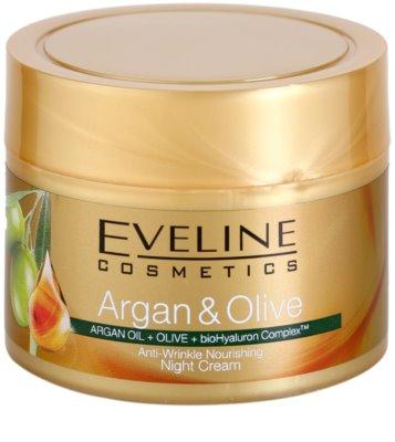 Eveline Cosmetics Argan & Olive tápláló éjszakai krém a ráncok ellen