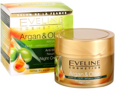 Eveline Cosmetics Argan & Olive vyživující noční krém proti vráskám 1