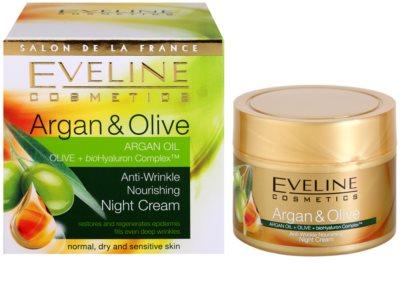 Eveline Cosmetics Argan & Olive odżywczy krem na noc przeciw zmarszczkom 2