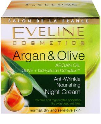 Eveline Cosmetics Argan & Olive vyživující noční krém proti vráskám 4
