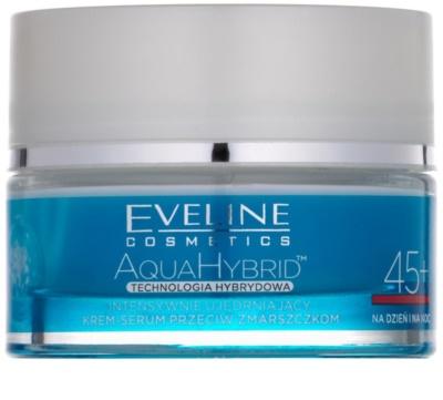 Eveline Cosmetics Aqua Hybrid інтенсивний зміцнюючий денний та нічний крем 45+