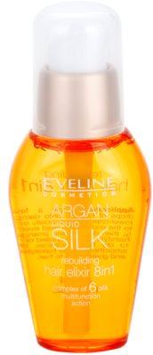 Eveline Cosmetics Argan Liquid Silk ulei hranitor pentru par uscat si deteriorat