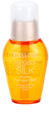 Eveline Cosmetics Argan Liquid Silk поживна олійка для сухого або пошкодженого волосся