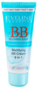 Eveline Cosmetics BB Cream матиращ ВВ крем 8 в 1
