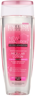 Eveline Cosmetics BioHyaluron 4D agua micelar hidratante para pieles sensibles y secas