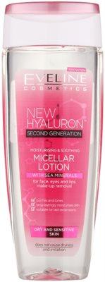 Eveline Cosmetics BioHyaluron 4D feuchtigkeitsspendendes Mizellarwasser für empfindliche und trockene Haut