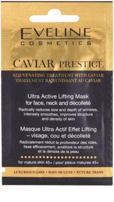 Eveline Cosmetics Caviar Prestige 45+ Gesichtsmaske gegen Falten