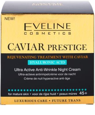 Eveline Cosmetics Caviar Prestige 45+ creme de noite antirrugas 5