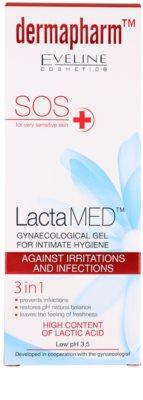 Eveline Cosmetics Dermapharm LactaMED гель для інтимної гігієни проти подразнення та інфекції 3