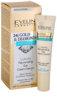 Eveline Cosmetics 24k Gold & Diamonds crema rejuvenecedora para contorno de ojos 1