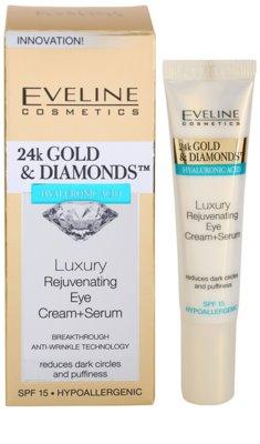Eveline Cosmetics 24k Gold & Diamonds crema rejuvenecedora para contorno de ojos 2